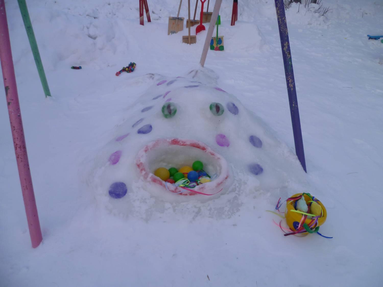 Зимнее оформление участков детского сада своими руками